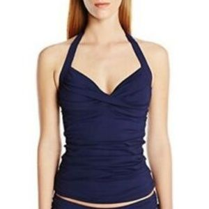 Anne Cole Color Blast Shirred Twist-Front Tankini